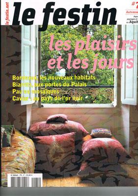 Couverture Le Festin Magazine - Automne 2011