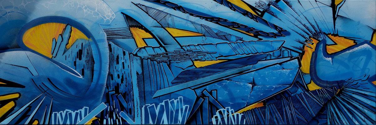 Gawel -150x150 cm - Aérosol et Stylo Peinture - Odeg - 2013