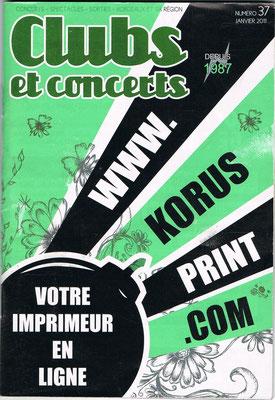 Couverture Club et Concerts - Janvier 2011