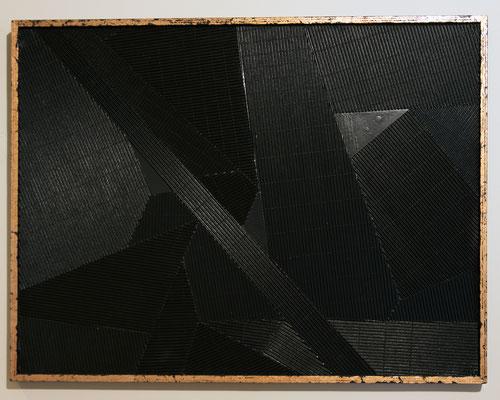 SHILLING 2 - 92 x 72 cm -Placage sur bois et dorure cuivre - Odeg - 2016