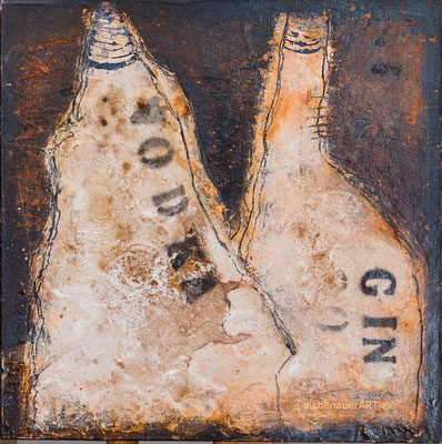 Coole Flaschen | 30 x 30 cm