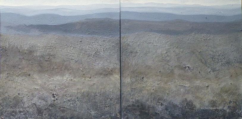 Steinlandschaft-Diptychon | 60 x 120 cm