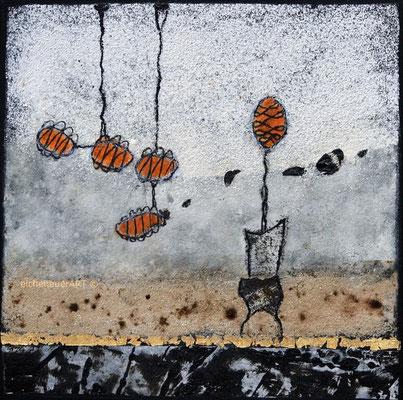 Beetles on walking tour | 30 x 30 cm