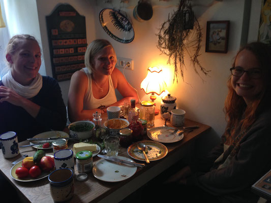 Bandfrühstück bei Chrissi