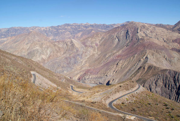 The road  Pallasca to Chuquicara. We started at 3100 meters above sea level and followed the very nice canyon to Chuquicara, at about 510 meters above sea level.