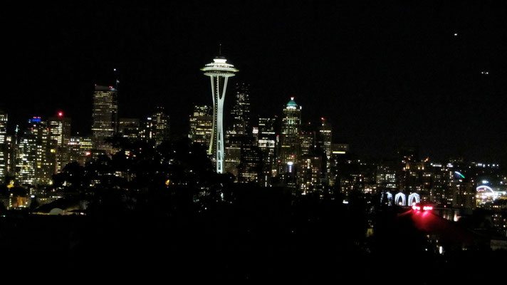 Downtown Seattle by night
