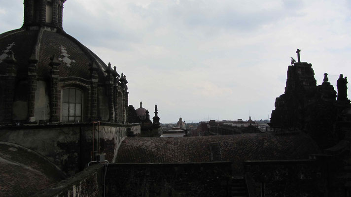 On the top of the cathedral
