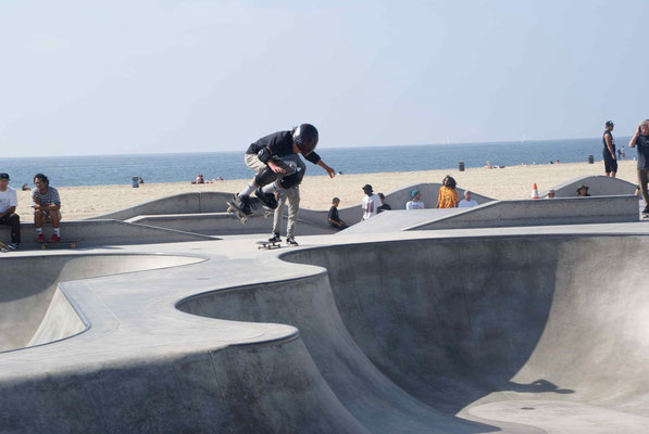 Skater at Venice Beach.