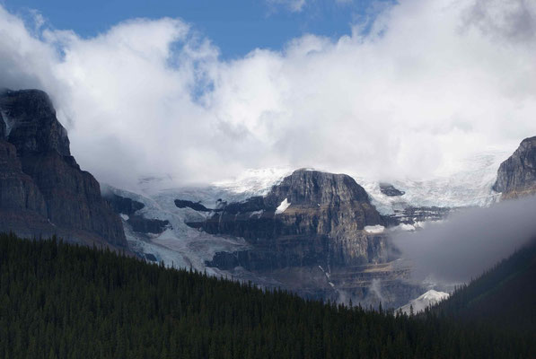 Glaciers all over in the Rockies