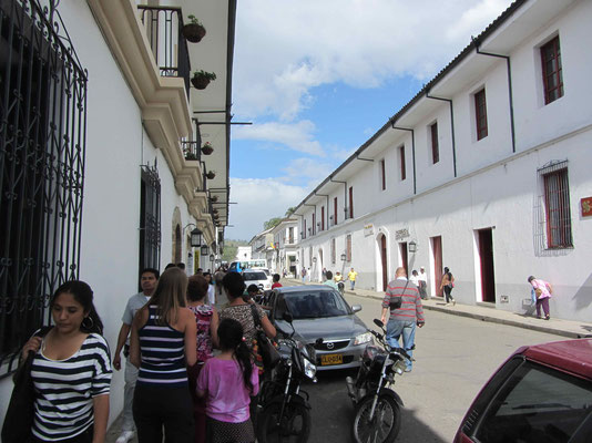 A stroll through Popayan with our little guide Isabella.