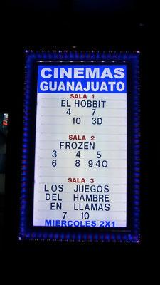 Cinemas Guanajuato.