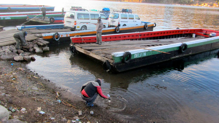 Ferryport on Lago Titicaca