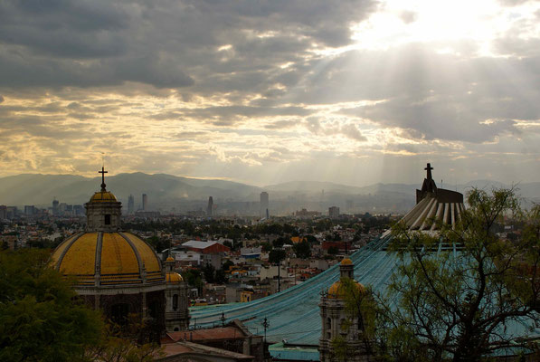 View behind the basilica of Our Lady of Guadalupe