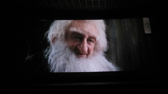 Watching the Hobbit in Guanajuato.