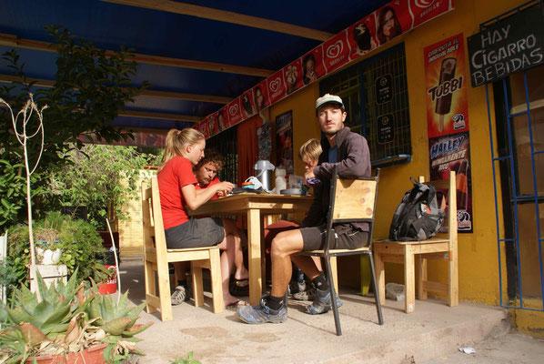Breakfast in Huanta, Chile.