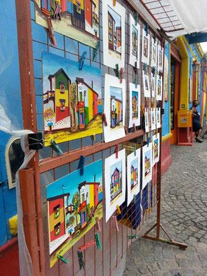 """Am Sonntag machten wir noch eine kleine Runde im Quartier """"La Boca"""". // Sunday afternoon we hang out in """"La Boca""""."""