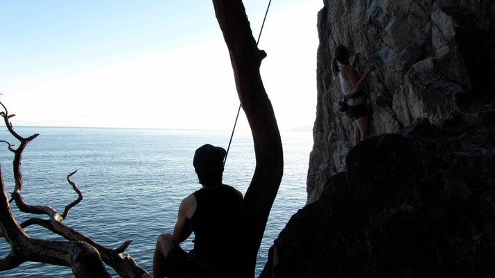Climbing at Lighthouse Park