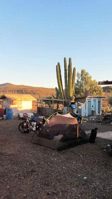 Overnight at Rancho El Sacrificio.