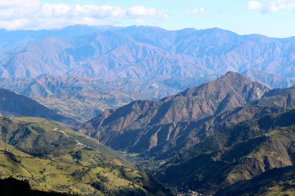 Mountains range in the south of ecuator.