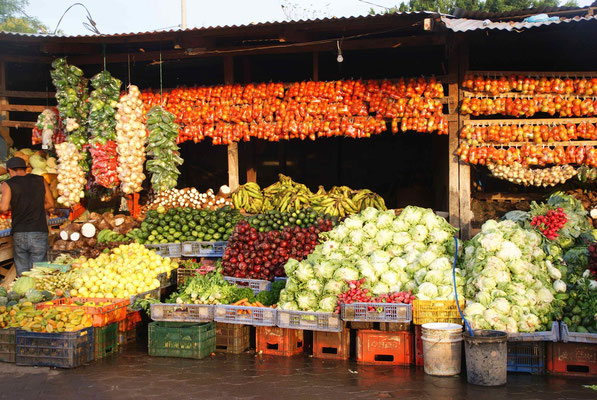Nice fruits stand in Sebaco.