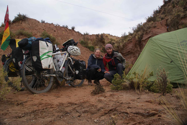 We camp next to the road in the middle of nowhere. It rained and stormed like never before.