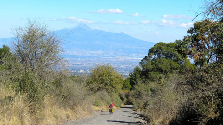 Puebla in the background.
