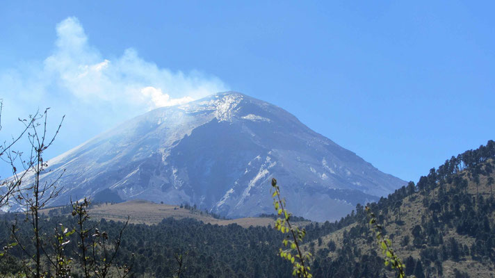 Another nice view of the Volcan Popocatepel