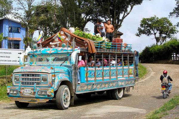 Colombias chicken bus.