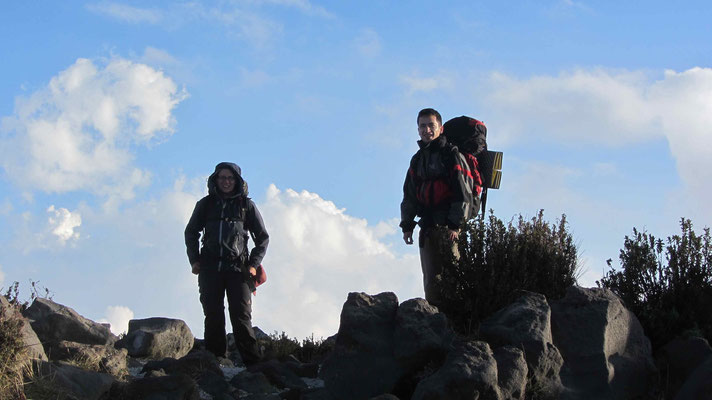 After a 5h climb, we reached the top of Santa Maria.