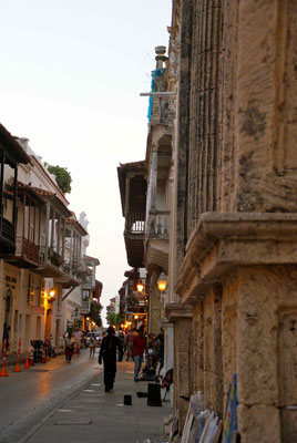 Typical street in Cartagena.