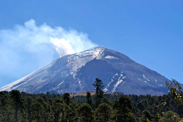 Nice view of the Volcan Popocatepel