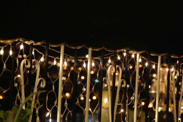 Lights at Casa Bertha in Guanajuato.