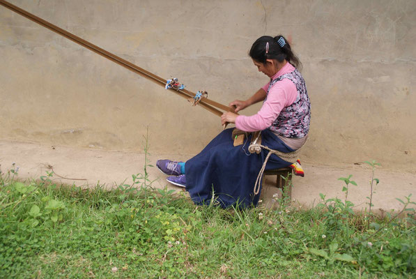 Woman making artisanal.