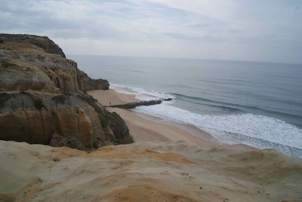 At the beautiful beach of Portugal.