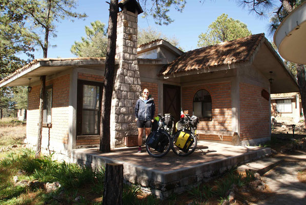 The nice cabin we stayed in El Soldado