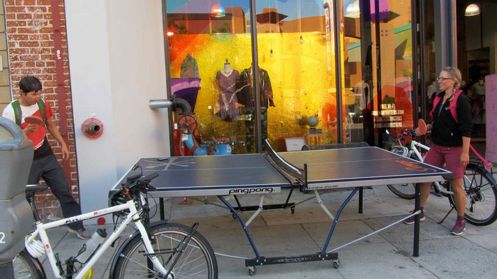 Playing Ping-Pong in University Heights, San Diego