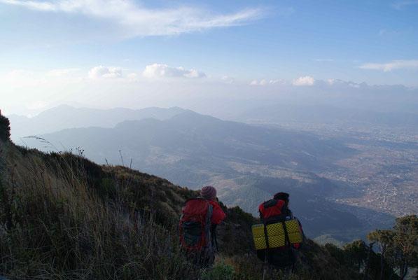Climbing Volcano Santa Maria.