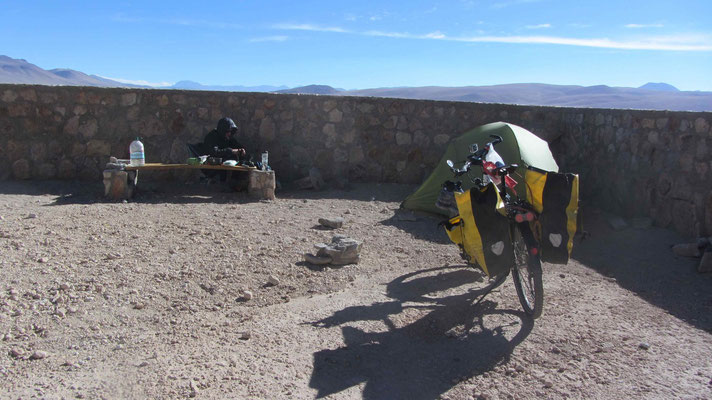 First Campspot on a mirador along the road.