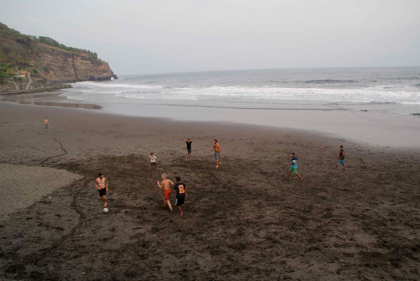 Soccer at the beach El Zonte.