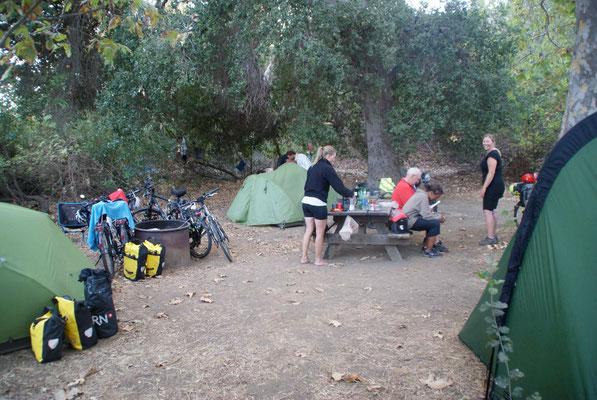 Hiker/Biker Campsite at Leo Carillo State Park.
