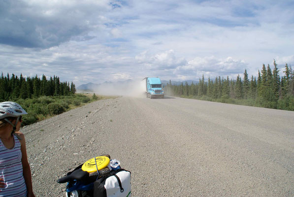 on the road, Alaska Highway, Yukon