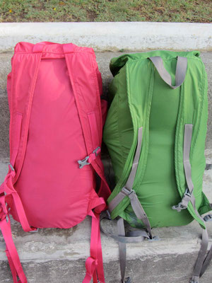 Backpacks for 3 weeks traveling through Guatemala, Belize and Mexico