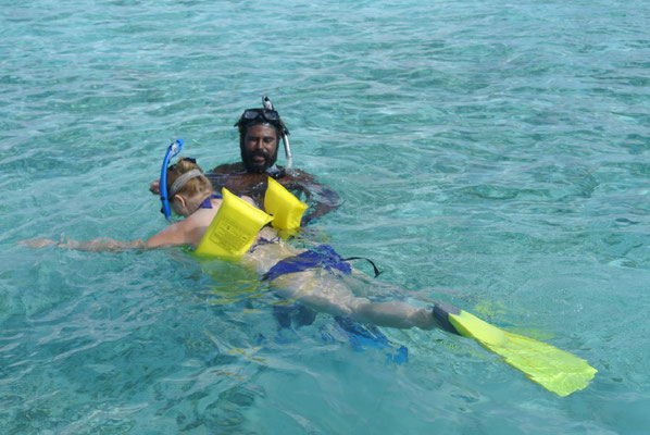 Monique and the snorkeling instructor