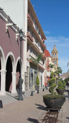 Calle Constitution in the historic center of Durango.