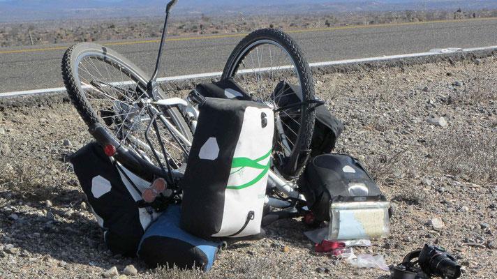 What's happened with Flurina's bike?