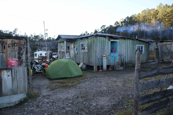 The place we camp at 2660 m in Las Adjuntas