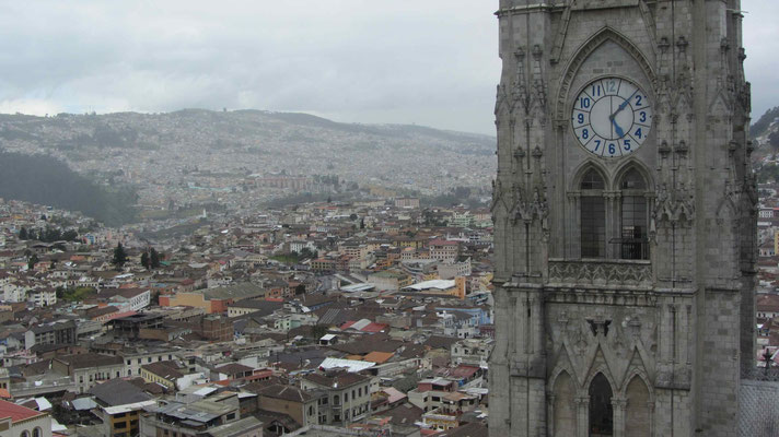 View of the northern part of Quito.