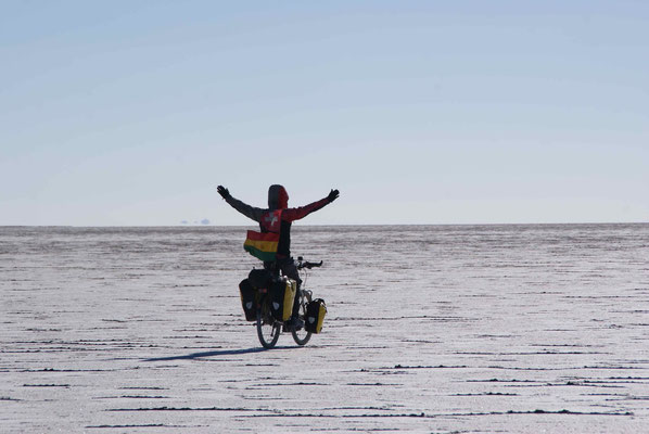 Only us on the Salar.