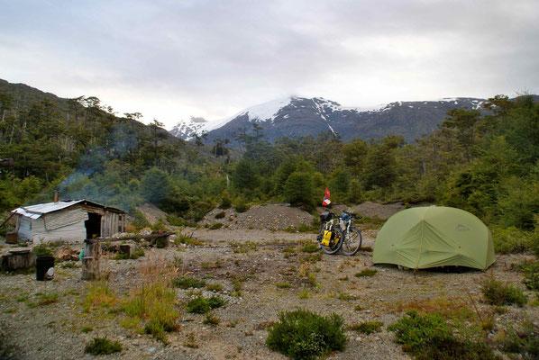 Campside beside Vincente's house.