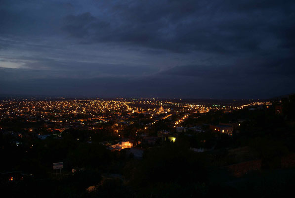 San Miguel de Allende at night.